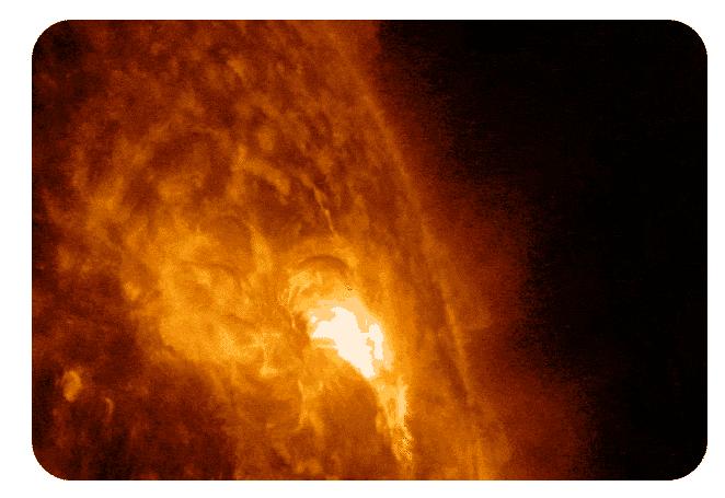 solar flare by NASA's Solar Dynamics Observatory