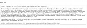 truck radiation accident